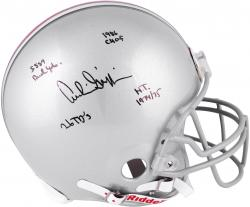 Archie Griffin Ohio State Buckeyes Autographed Riddell Pro-Line Authentic Helmet with Multiple Inscriptions-Limited Edition #2-#44 of #45 - Mounted Memories