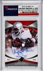 Archie Griffin Ohio State Buckeyes Autographed 2013 SPX #14 Card with HT 1974/75 Inscription