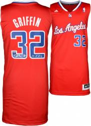 Blake Griffin Los Angeles Clippers Autographed adidas Swingman Red Jersey with 11 ROY Inscription - Mounted Memories