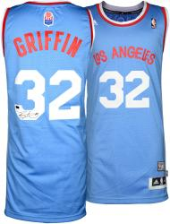 Blake Griffin Los Angeles Clippers Autographed adidas Swingman Baby Blue Jersey - Mounted Memories