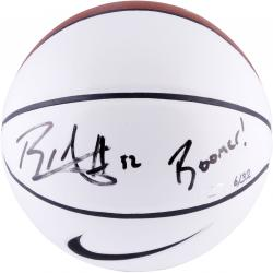 Blake Griffin Oklahoma Sooners Autographed White Panel Basketball with Boomer Inscription - Mounted Memories