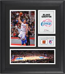 Blake Griffin Los Angeles Clippers Framed 15'' x 17'' Collage with Team-Used Ball - Mounted Memories