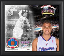 Blake Griffin Los Angeles Clippers Framed 15'' x 17'' Mosaic Collage with Team-Used Basketball-Limited Edition of 99 - Mounted Memories  - Mounted Memories