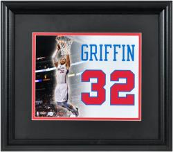 Blake Griffin Los Angeles Clippers Framed 12'' x 14'' Jersey Number Collage - Mounted Memories