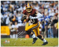 "Robert Griffin III Washington Redskins Autographed 16"" x 20"" Run With Ball Photograph"