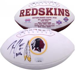 Robert Griffin III Autographed White Panel Football with ROY 2012 Inscription