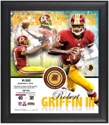 Washington Redskins Robert Griffin III 1st NFL Game Framed Jersey Collage with Game-Used Football