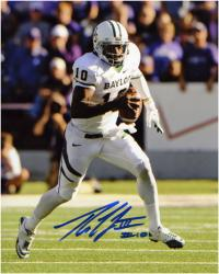 "Robert Griffin III Baylor Bears Autographed 8"" x 10"" Run with Ball Photograph"