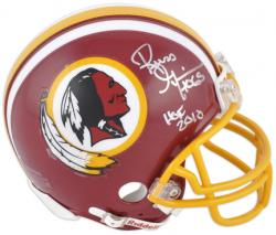 Russ Grimm Washington Redskins Autographed Riddell Mini Helmet with HOF 2010 Inscription - Mounted Memories