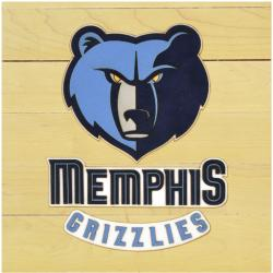 "Memphis Grizzlies Courtllectible 12"" x 12"" Floor Piece with Logo"