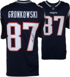 Rob Gronkowski New England Patriots Autographed Nike Replica Blue Jersey