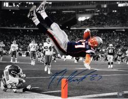 Rob Gronkowski New England Patriots Autographed 16'' x 20'' The Flip Spotlight Photograph - Mounted Memories