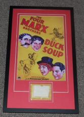 Groucho Marx Signed Framed 16x26 Marx Brothers Duck Soup Display JSA