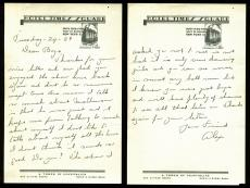 Grover Cleveland Alexander Signed 6x9.25 1939 Handwritten Letter JSA #Z31392