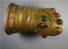 Guardians Galaxy Infinity Gauntlet Glove Stan Lee + Josh Brolin Signed PSA/DNA