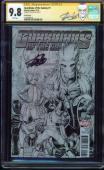 Guardians Of The Galaxy #1 Cgc 9.8 Ss Stan Lee 1:100 Variant!  Cgc #1227596010