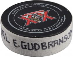 Erik Gudranson Florida Panthers 4/8/14 Game-Used Goal Puck vs. Philadelphia Flyers