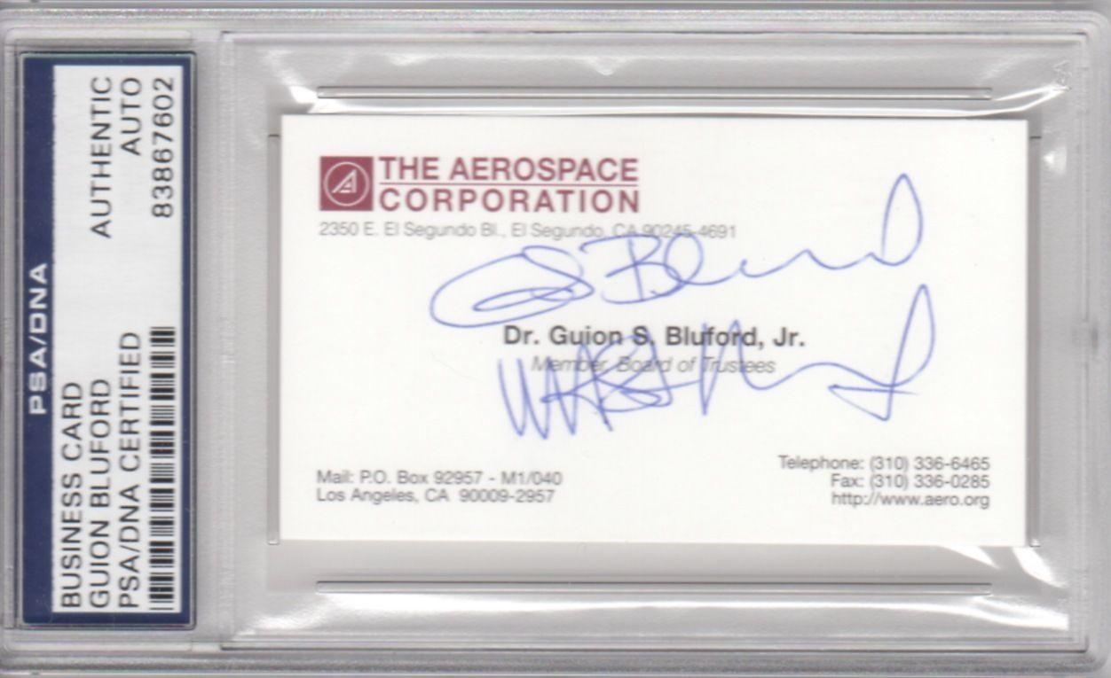 Guion bluford aerospace corporation nasa signed autograph business guion bluford aerospace corporation nasa signed autograph business card psa dna colourmoves