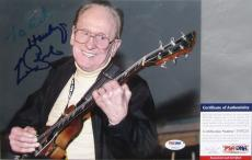 GUITAR LEGEND!!! Les Paul EPIPHONE Signed 8x10 Photo #1 PSA/DNA