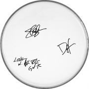 Guns N Roses Autographed Facsimile Signed Clear Drumhead - Axl Rose - Slash - Duff