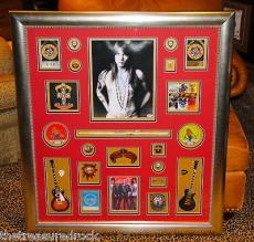 Guns N Roses signed autographed FRAMED ALL MEMBERS AXL SLASH guitar pass PSA DNA