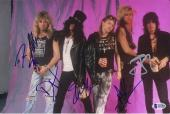 Guns N Roses Signed by 5 8x12 Photo - Axl Slash Duff - Beckett BAS