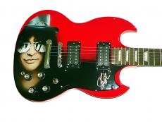 Guns N Roses Slash Autographed Airbrushed SG Style Guitar