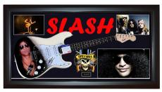 Guns N Roses Slash Signed Guitar + Display Shadowbox Case PSA AFTAL UACC RD