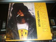 Guns N' Roses Torpo Delux Album Slash Signed Cover Jsa Authentic Vg