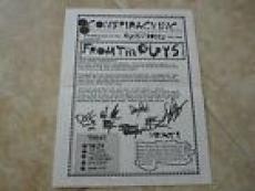 Guns & Roses Band RARE Oct 1991 Conspiracy Fan Club News Letter Axl Slash Izzy