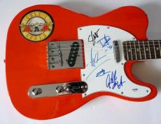 Guns & Roses Band Signed Autographed Guitar 5 Original Members PSA Axl Slash +3