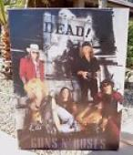 Guns & Roses Early 1991 Signed 23x30 Poster PSA Certified FULL IZZY & AXL AUTO'S