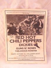 Guns & Roses & RHCP ORIGINAL Oct 31 1986 UCLA Ackerman Hall Concert Flyer Poster