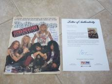 Guns Roses Slash Duff +1 Signed Rolling Stone Magazine Cover Photo PSA Certified