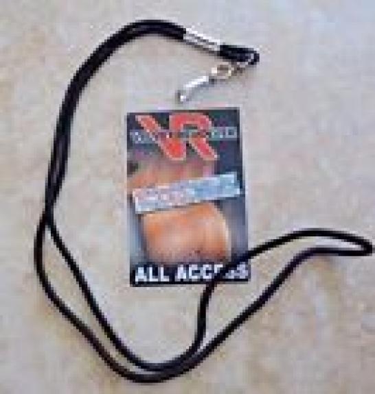 Guns & Roses Velvet Revolver Tour Laminate Backstage Pass Perla Hudson Owned