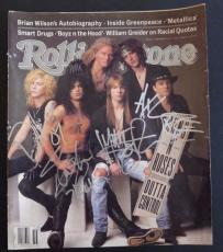 Guns Roses x4 Signed Rolling Stone Magazine Cover BAS Certified Axl Slash Duff