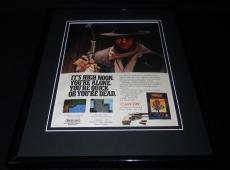 Gunsmoke 1988 NES Nintendo Capcom 11x14 Framed ORIGINAL Vintage Advertisement