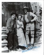 "GUNSMOKE"" Signed by JAMES ARNESS as MATT DILLON and AMANDA BLAKE as MISS KITTY  (JIM Passed Away in 2011 and AMANDA 1989) 8x10 B/W Photo"