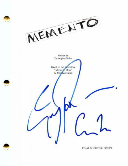 Guy Pearce Signed Autograph - Memento Full Movie Script - Christopher Nolan