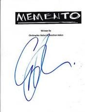 Guy Pearce Signed Memento Full 156 Page Script Screenplay Authentic Autograph