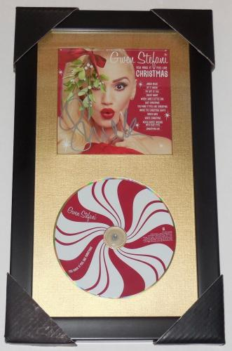 Gwen Stefani Autographed Christmas Cd Cover (framed & Matted) - W/ Coa!