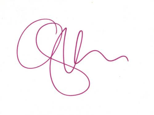 Gwen Stefani Autographed No Doubt Signed 6x4 Small Cut UACC RD COA AFTAL