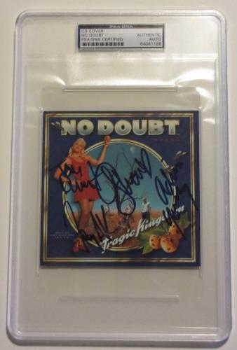 GWEN STEFANI, Kanal, Dumont & Young Signed NO DOUBT Band CD Cover JSA & PSA/DNA