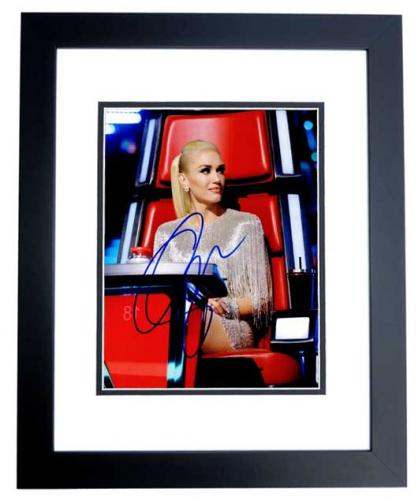 Gwen Stefani Signed - Autographed No Doubt Singer - The Voice Coach 8x10 inch Photo BLACK CUSTOM FRAME - Guaranteed to pass PSA or JSA