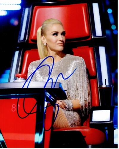Gwen Stefani Signed - Autographed No Doubt Singer - The Voice Coach 8x10 inch Photo - Guaranteed to pass PSA or JSA