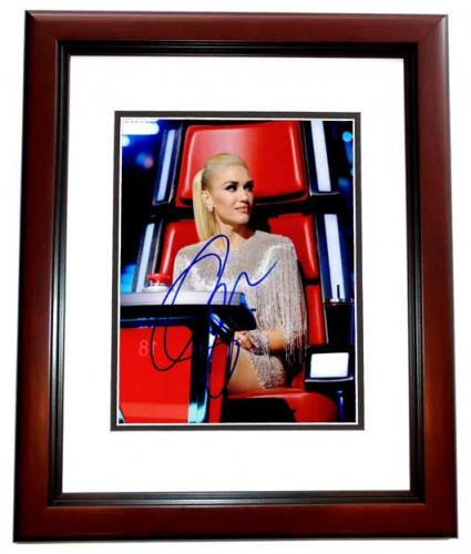 Gwen Stefani Signed - Autographed No Doubt Singer - The Voice Coach 8x10 inch Photo MAHOGANY CUSTOM FRAME - Guaranteed to pass PSA or JSA