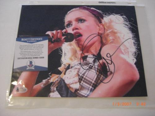 Gwen Stefani The Voice,no Doubt,blake Shelton Beckett/coa Signed 8x10 Photo