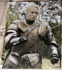 "Gwendoline Christie Signed Autograph ""game Of Thrones"" Intense Sword 8x10 Photo"