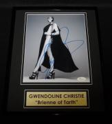 Gwendoline Christie Signed Framed 11x14 Photo Display JSA Game of Thrones