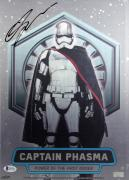 Gwendoline Christie Signed LE #3/99 Captain Phasma 10x14 Aluminum Poster BAS